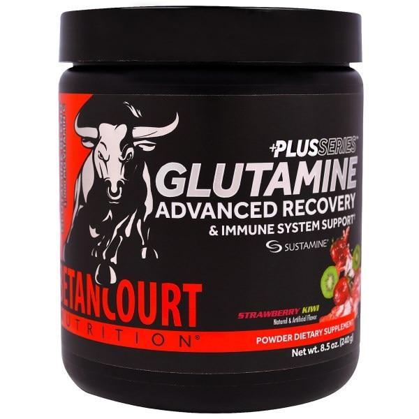 Betancourt, Глутаминовый коктейль из серии Плюс для улучшенного восстановления и поддержания иммунитета, со вкусом клубники и киви, 8,5 унций (240 г)