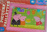 Картинка из пайеток Picture of Pail: Свинка Пеппа на дне рождения Danko-Toys Украина