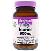Bluebonnet Nutrition, Таурин, 1000 мг, 50 капсул в растительной оболочке