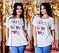 """Летняя свободная женская футболка в больших размерах 3251 """"PARIS - NEW YORK"""", фото 2"""