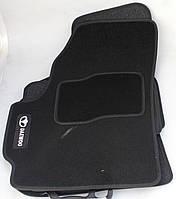 Коврики в салон текстильные Daewoo Matiz 1998-2008- материал Ciak черн. вышивка (5шт/комп)