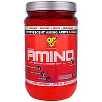 BSN, Амино-X, средство для выносливости и восстановления со вкусом клубники и питайи, 15,3 унции (435 г)