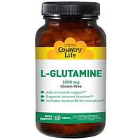 Country Life, L-глютамин 60 таблеток
