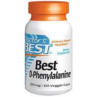 Doctors Best, Best, D-фенилаланин, 500 мг, 60 растительных капсул