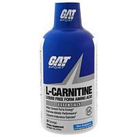 GAT, L-карнитин, жидкая аминокислота в свободной форме, голубая малина