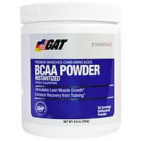 GAT, Порошковые аминокислоты с разветвленной цепью, без вкусовых добавок, 8,8 унции (250 г)