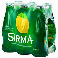 Вода натуральная минеральная газированная  с ароматом лимона 200 мл (Limonlu Maden Suyu) ТМ SIRMA, фото 1
