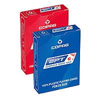 Карты покерные Copag EPT синие/красные, 100% пластик
