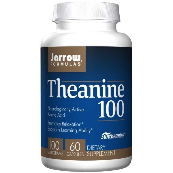 Jarrow Formulas, Теанин 100, 100 мг, 60 капсул