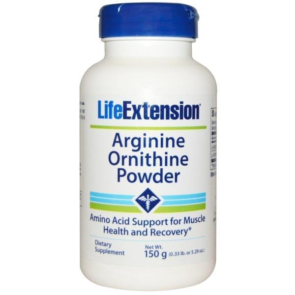Life Extension, Порошок с аргинином и орнитином, 5,29 унции (150 г)