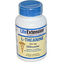 Life Extension, L-теанин, 100 мг, 60 растительных капсул