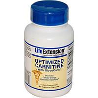 Life Extension, Оптимизированный карнитин с гликокарном (GlycoCarn), 60 вегетарианских капсул