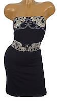 Женское платье с декоративным поясом (в расцветках)
