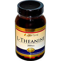 Life Time, L-теанин, 200 мг, 30 вегетарианских капсул