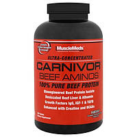 MuscleMeds, Аминокислоты Carnivor Beef, 100% чистый говяжий протеин, 300 таблеток
