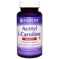MRM, Ацетил-L-карнитин, 500 мг, 60 капсул на растительной основе