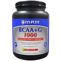 MRM, Аминокислоты с разветвлённой цепью BCAA + G 1000 Grean Apple, 1000 г