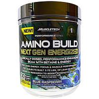 Muscletech, Amino Build Next Gen Energized, со вкусом голубики, 282 г (9,96 унций)