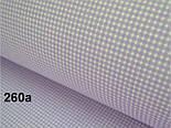 Лоскут ткани №260а с мелкой клеточкой сиреневого цвета, размер 35*80 см, фото 2