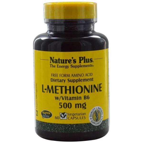 Natures Plus, L-метионин / Витамин B6 60 овощных капсул - Интернет-магазин для здоровой жизни в Киеве