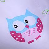 """Летний яркий конверт-одеяло """"Valleri"""", (совы розовый), фото 2"""