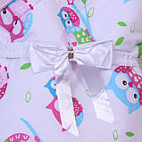 """Летний яркий конверт-одеяло """"Valleri"""", (совы розовый), фото 4"""