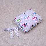 """Летний яркий конверт-одеяло """"Valleri"""", (совы розовый), фото 5"""