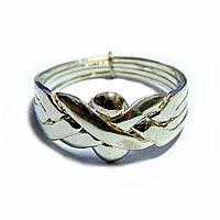 Кольцо-головоломка унисекс из 4 деталей (серебро)