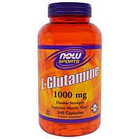 Now Foods, Спорт, L-глютамин 1000 мг, 240 капсул
