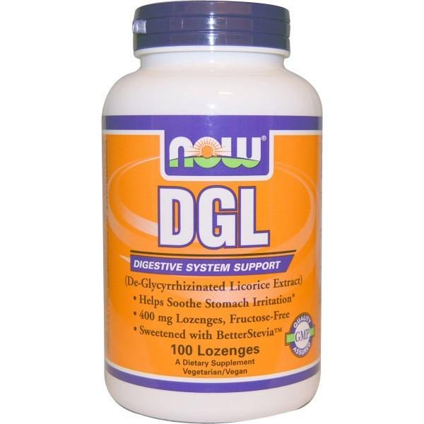 Now Foods, DGL, (деглицирризованный экстракт солодки), 100 пастилок