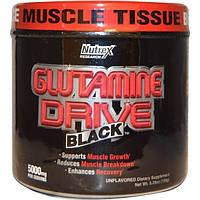 Nutrex Research Labs, Glutamine Drive, черный, неароматизированный, 5000 мг, 5,29 oz (150 г)