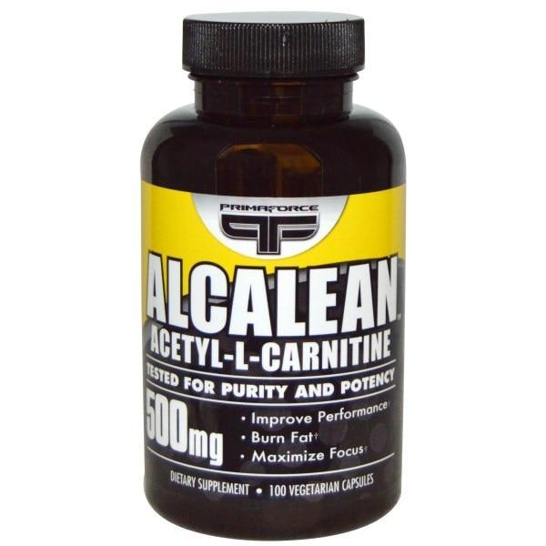 Primaforce, Alcalean, Ацетил-L-Карнитин, 500 мг, 100 растительных капсул