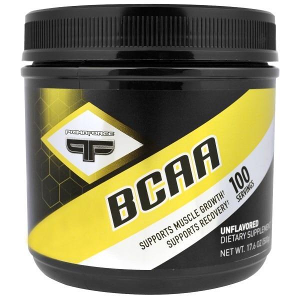 Primaforce, Амінокислоти з розгалуженими бічними ланцюгами (BCAA), без ароматизаторів, 17,6 унції (500 г)