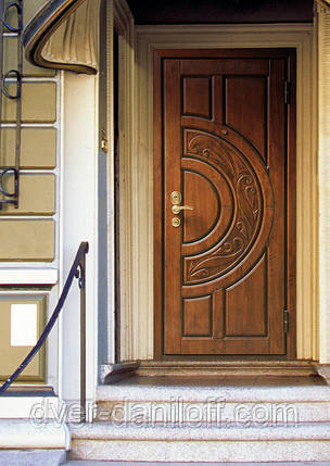 Металлические двери Киев, МДФ-патина, фото 2