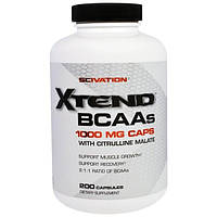 Scivation, Xtend BCAAs, 1000 мг, 200 Капсул