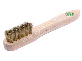 Щетка Салрус, для замши, нубука, ворс - латунь, 155*25 мм, 32350