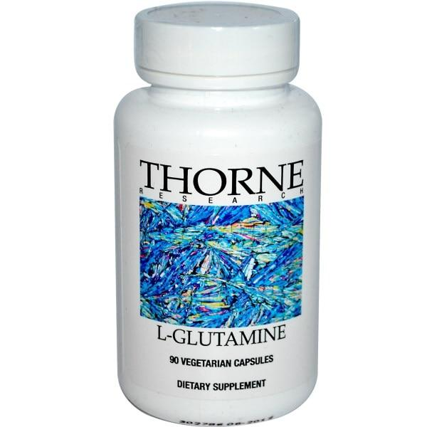 Thorne Research, L-Глютамин 90 овощных капсул