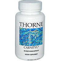Thorne Research, Карнитил, 60 капсул на растительной основе