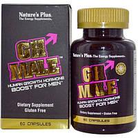 Natures Plus, GH Male, гормон роста человека для мужчин, 60 капсул