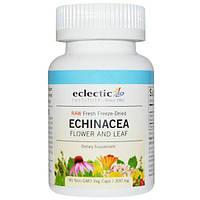 Eclectic Institute, Сырая эхинацея, цветки и листья, 300 мг, 90 вегетарианских капсул без ГМО