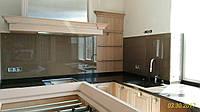 Стеклянный фартук для кухни, изготовление, установка