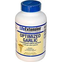 Life Extension, Оптимизированный чеснок, капсулы нормированного чеснока, 200 капсул на растительной основе