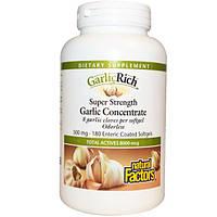Natural Factors, Чеснок Rich, концентрат чеснока высокой эффективности, 180 кишечнорастворимых мягких капсул