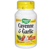 Natures Way, Кайенский перец и чеснок, 530 мг, 100 капсул