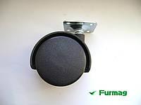Ролик мебельный с площадкой Ø40 мм (3019)
