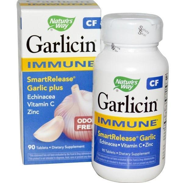 Natures Way, Гарлицин CF, для иммунитета, без запаха, 90 таблеток