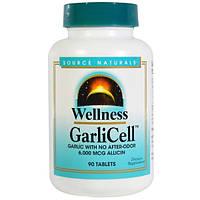 Source Naturals, Здоровье, чеснок, GarliCell, 6000 мкг, 90 таблеток
