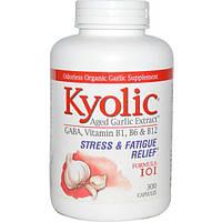 Wakunaga - Kyolic, Средство для избавления от стресса и усталости 101, 300 капсул