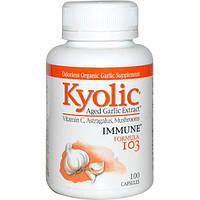 Wakunaga - Kyolic, Средство для укрепления иммунитета 103, 100 капсул