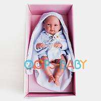 Пупс мальчик Llorens Newborn в халате, 35 см